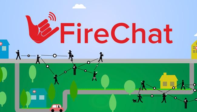 社交应用FireChat走红香港:没网也能聊天