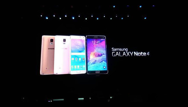 曲面屏来袭:三星强势发布Galaxy Note4