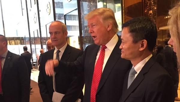 马云与特朗普会面 称中国是美国中小企业的巨大机会