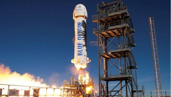 蓝色起源火箭今年首次成功发射并回收 最高高度达到107公里
