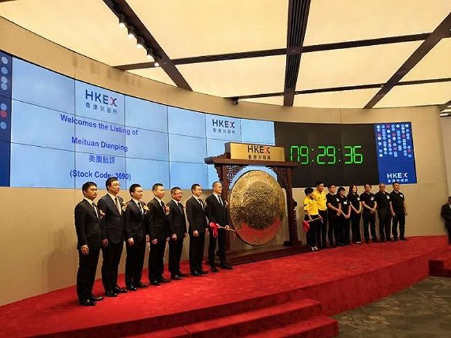 美团点评今日登陆港交所,开盘涨5.7%,市值4000亿港元,超越京东