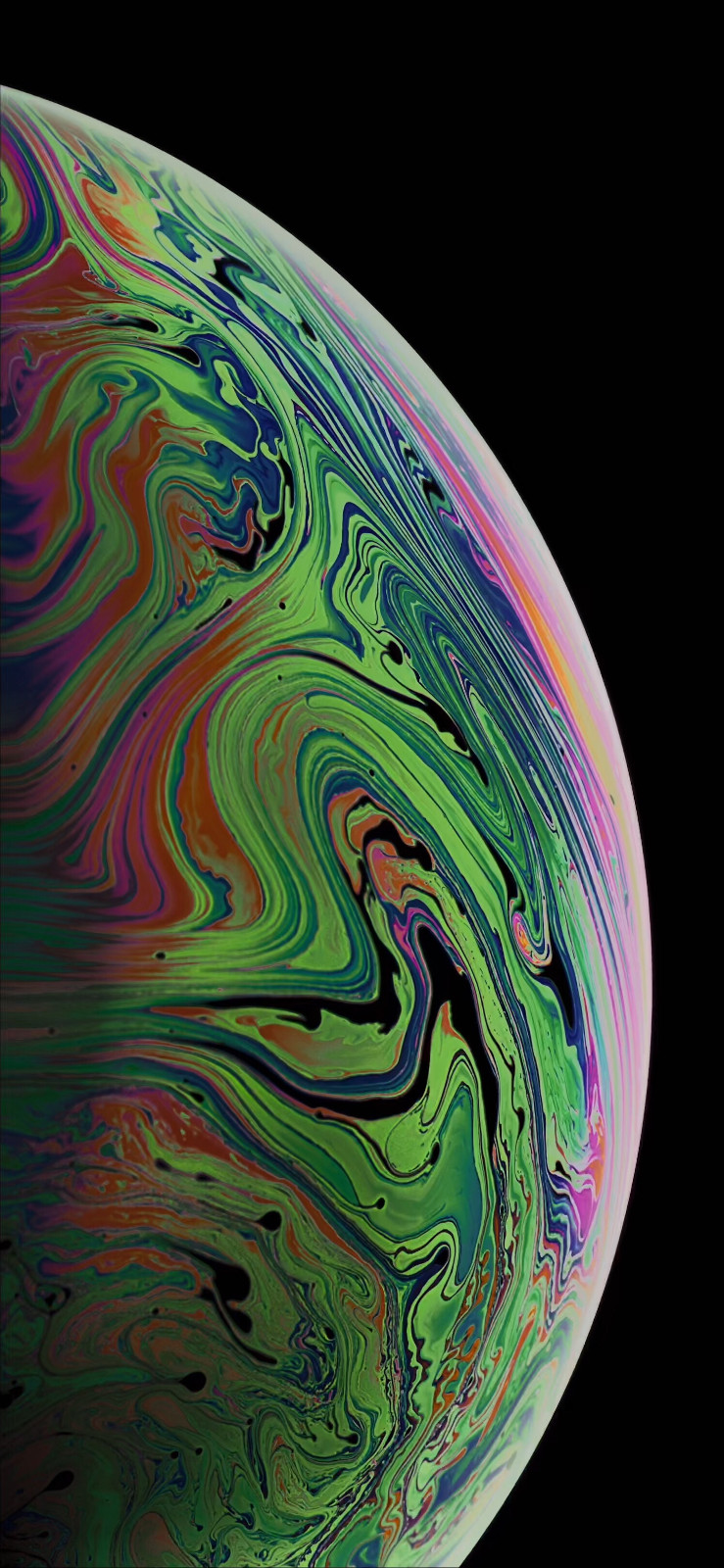 iPhone XS新增气泡壁纸下载:静态、动态都有