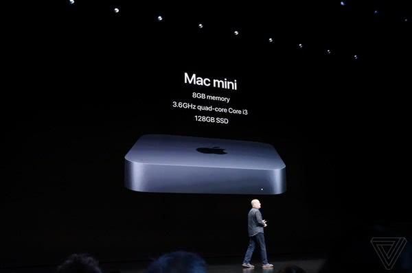 苹果发布全新Mac mini 内置T2安全芯片  支持64GB内存和2TB的SSD硬盘