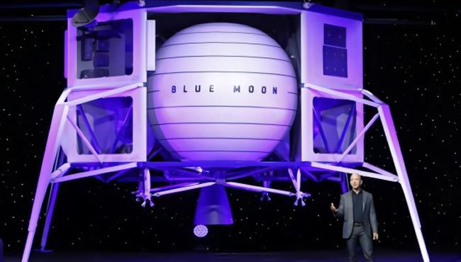 贝索斯公布月球登陆器 拟2024年送人上月球